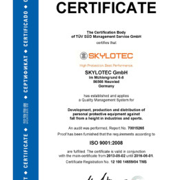 SKYLOTEC receives newest ISO certification