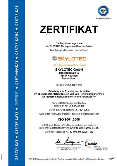 SKYLOTEC erhält neuste ISO Zertifizierung | Skylotec