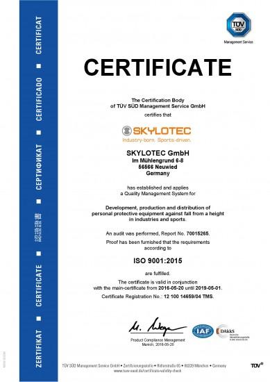 SKYLOTEC - ISO9001-2015 EN 20160520